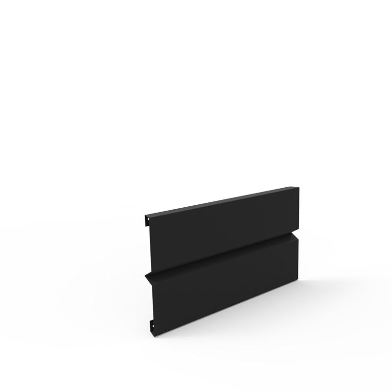 Plåtlängd för odlingslåda i svart' 20x40 cm