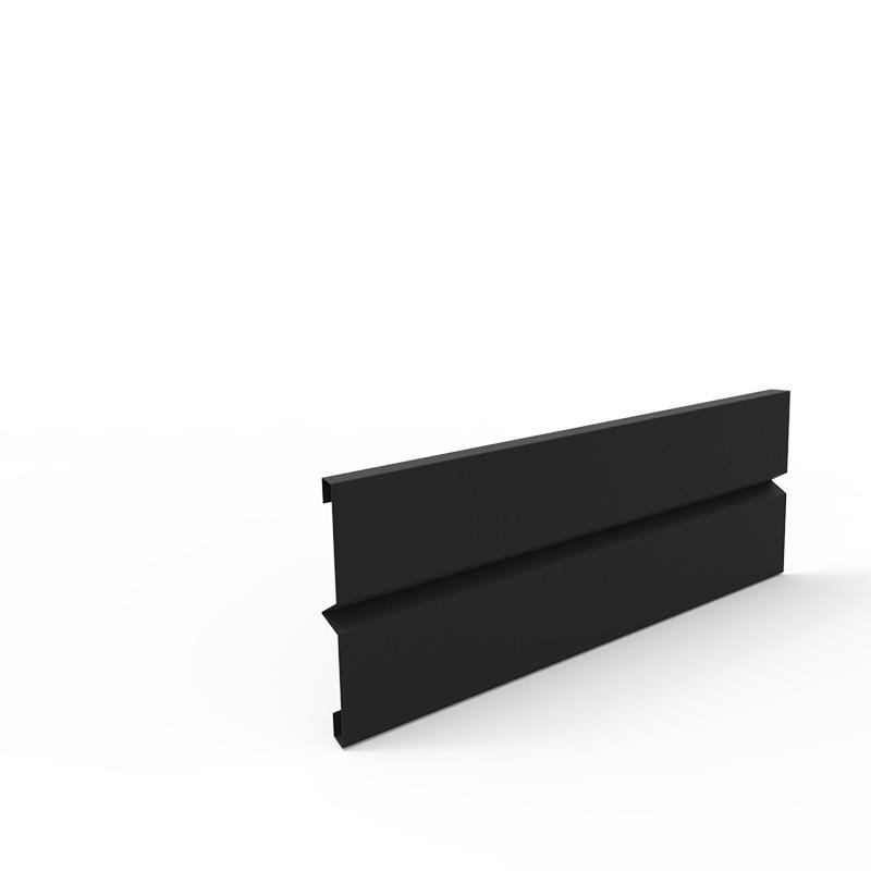 Plåtlängd för odlingslåda i svart, 20x60 cm