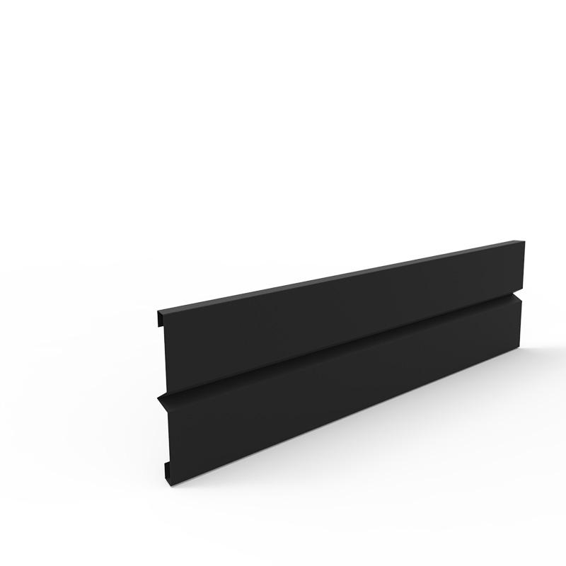Plåtlängd för odlingslåda i svart, 20x80 cm