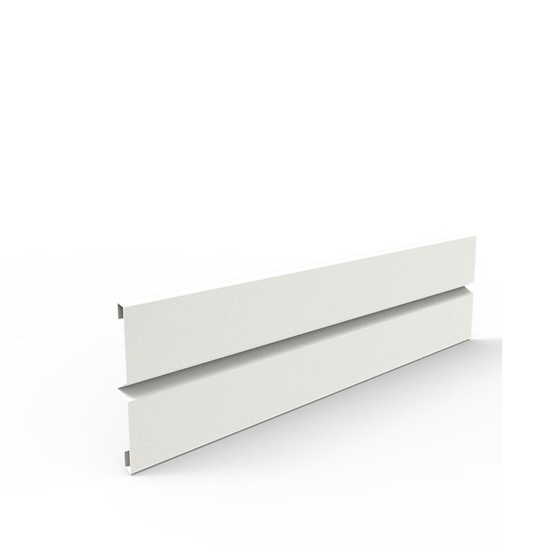 Plåtlängd för odlingslåda i vit, 20x80 cm