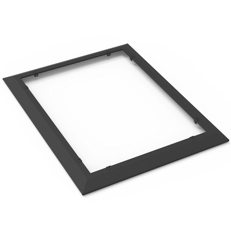 Snigelkant för odlingslåda i plåt 600x800 mm, svart