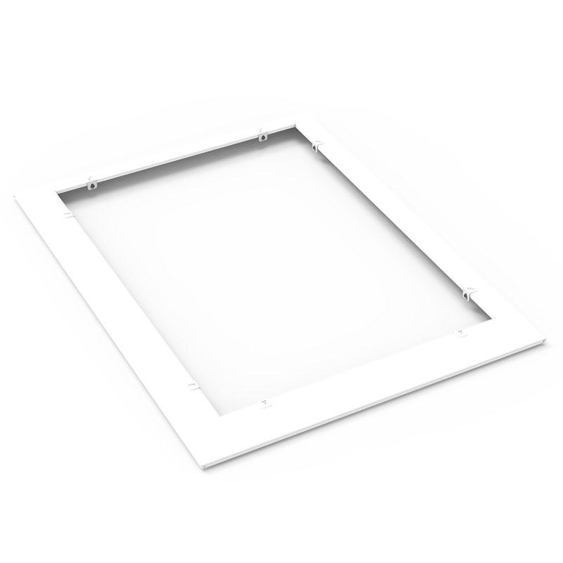 Snigelkant för odlingslåda i plåt 600x800 mm, vit
