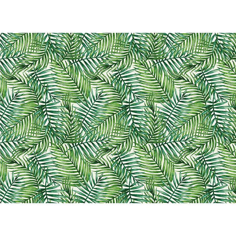 Utomhusmatta mönstrat med gröna blad