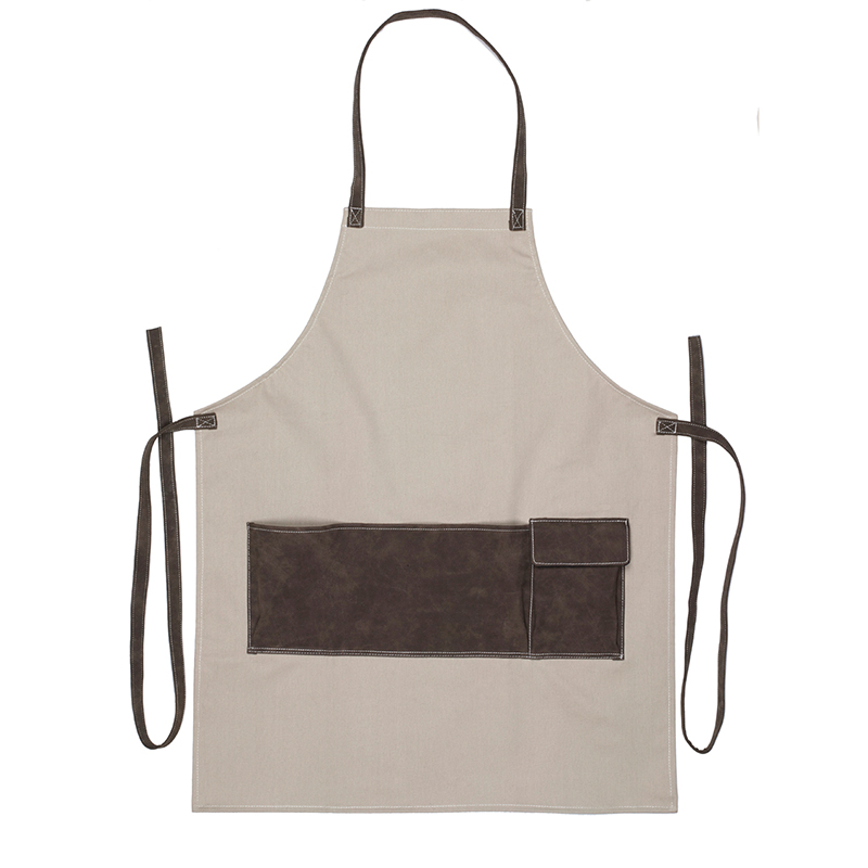 Snyggt och tåligt trädgårdsförkläde i kraftigt canvastyg med stor ficka