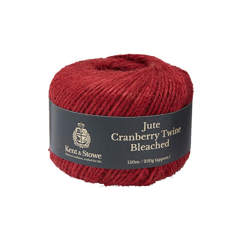 Jutesnöre för uppbindning, färg cranberry , 150 meter