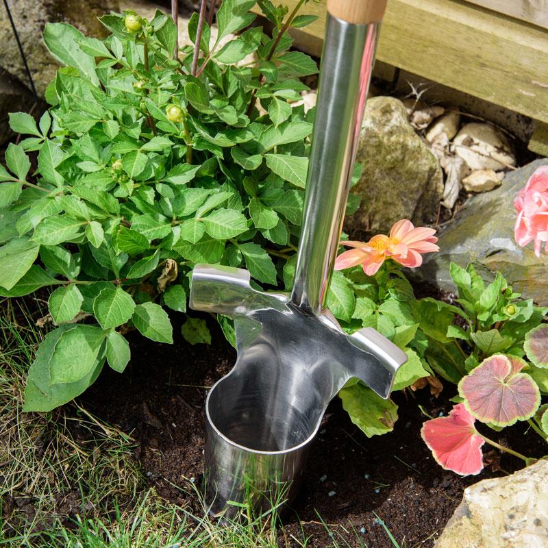 Trädgårdsredskap Planteringsjärn för lökar med långt skaft