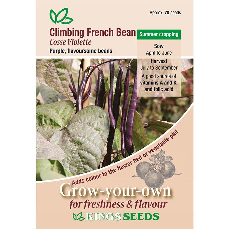 Klätterböna, Cosse Violette, Fröpåse till Klätterböna, Cosse Violette