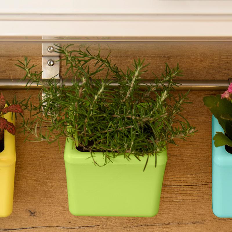 Klara Kipo Plant Pot, green, Klra Kipo planteringskruka med bevattning, grön
