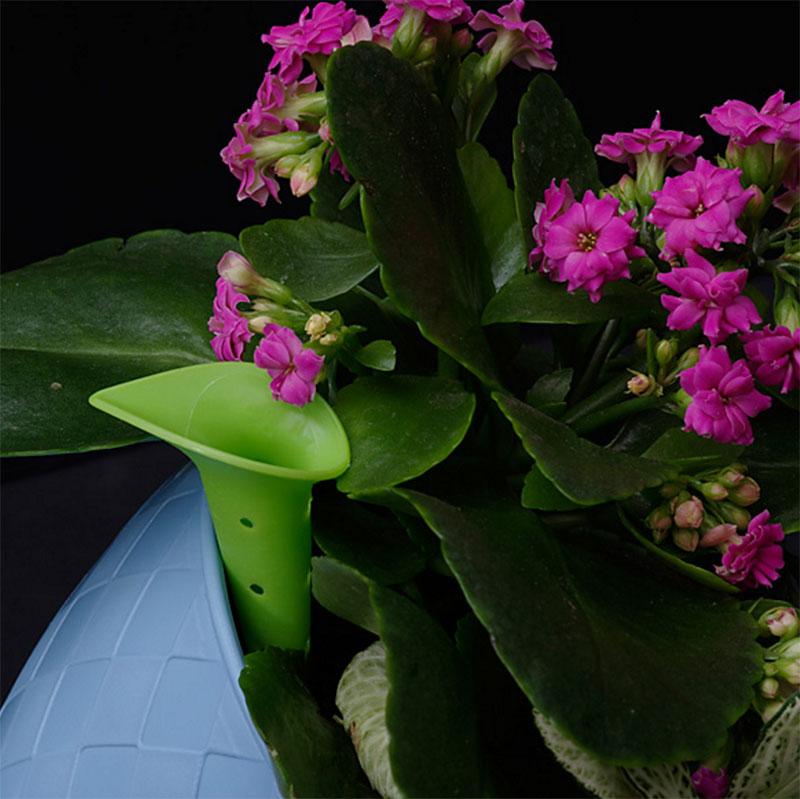 Klara Trio, plantkrukor set, lavender/blue/grey, Bevattningsrör i Klara Trio kryddkruka
