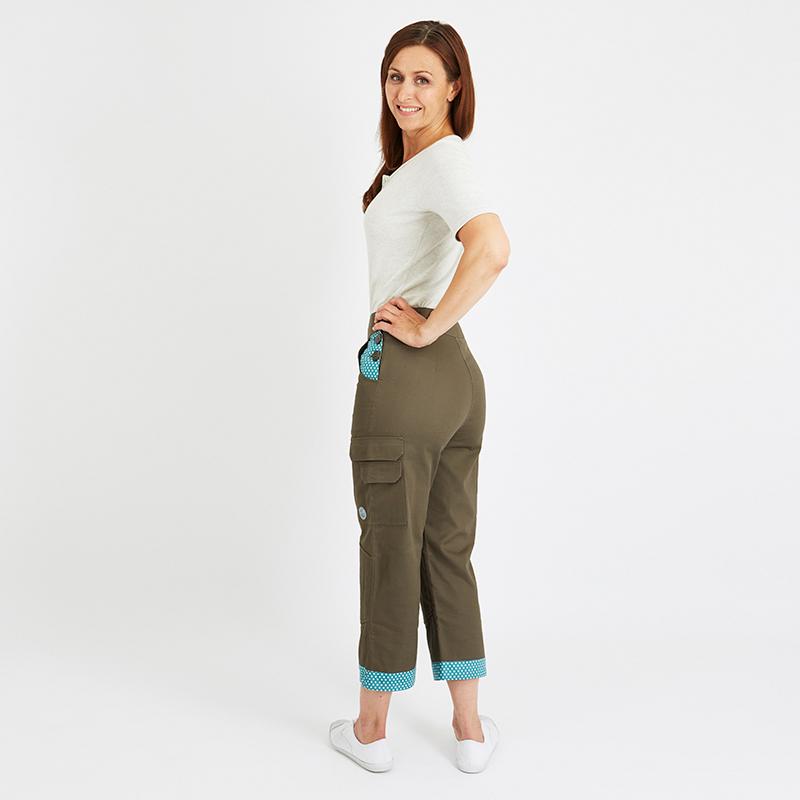 Land Girl Knickers Daisy, Brun/Grön, Trädgårdsbyxor med korta ben från Land Girl