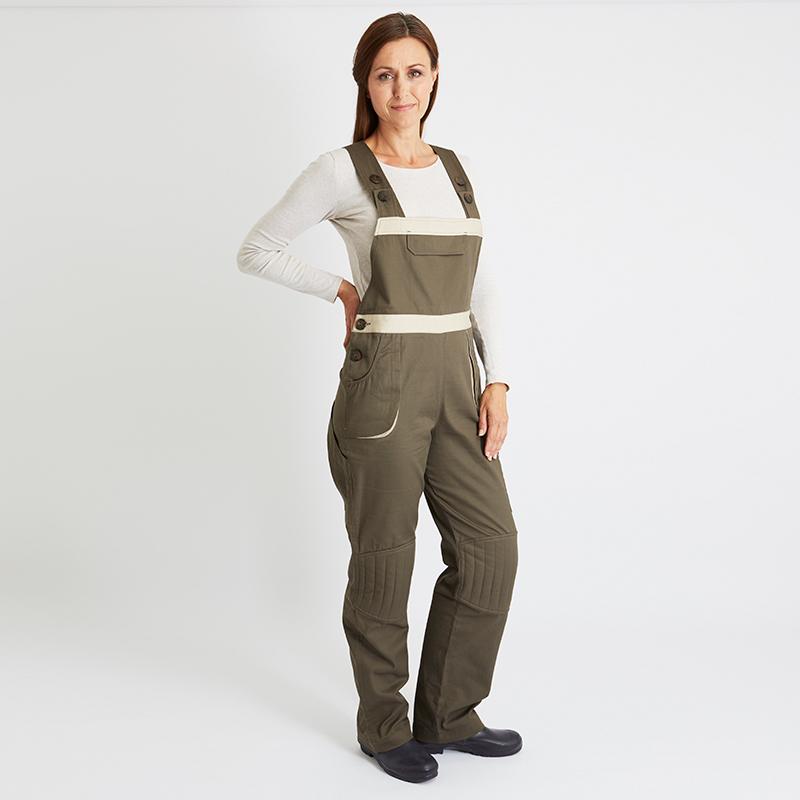 Land Girl Hängselbyxor Fullängd Classic, Brun/Beige, tradgardsbyxor-hangselmodell-brun-beige.jpg