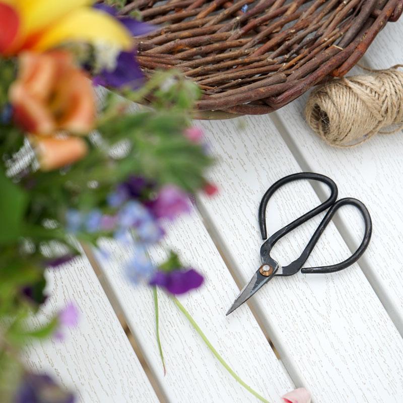 Sax för trimning av bonsaiträd eller för blomsterbinderi
