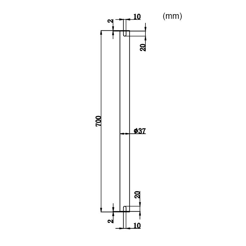 Måttskiss förlängsningsstole för utebelysning