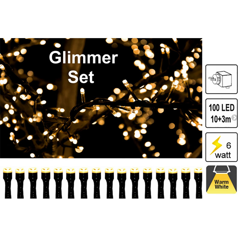 Glimmer ljusslinga - LED Garden Plug & Play