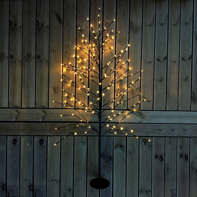 Dekorationsträd med LED-ljuspunkter för trädgården