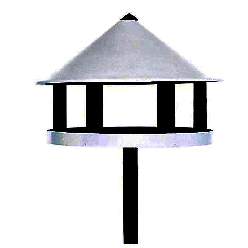 Fågelbord modell Assens, Fågelbord av granträ vit/svart