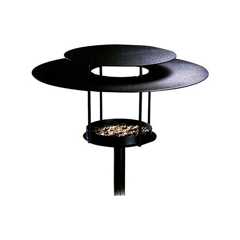 Fågelmatare modell lampa svart