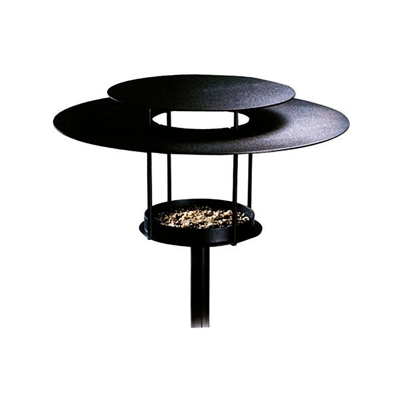 Fågelbord, 'lampa', Fågelmatare modell lampa svart