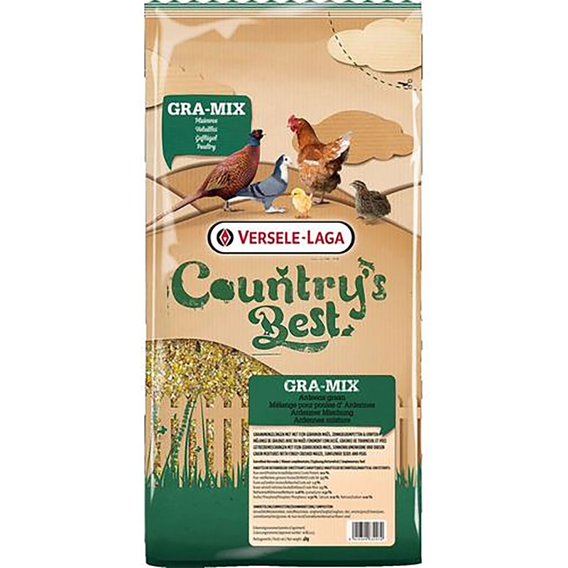 GRA-MIX Ardennes, tillskottsfoder för tamfågel, 20 kg-Mat till fjäderfä tillskott finkornblandning