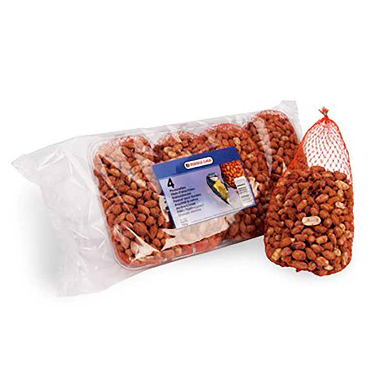 Jordnötter till vildfåglar, 175 gram 4-pack, Jordnötter till vildfåglar 175 gramspåsar