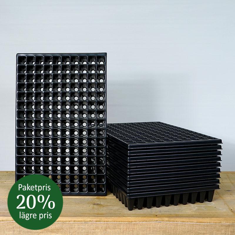 10-pack pluggbrätte med 150 celler för frösådd och sticklingar, paketpris -20%