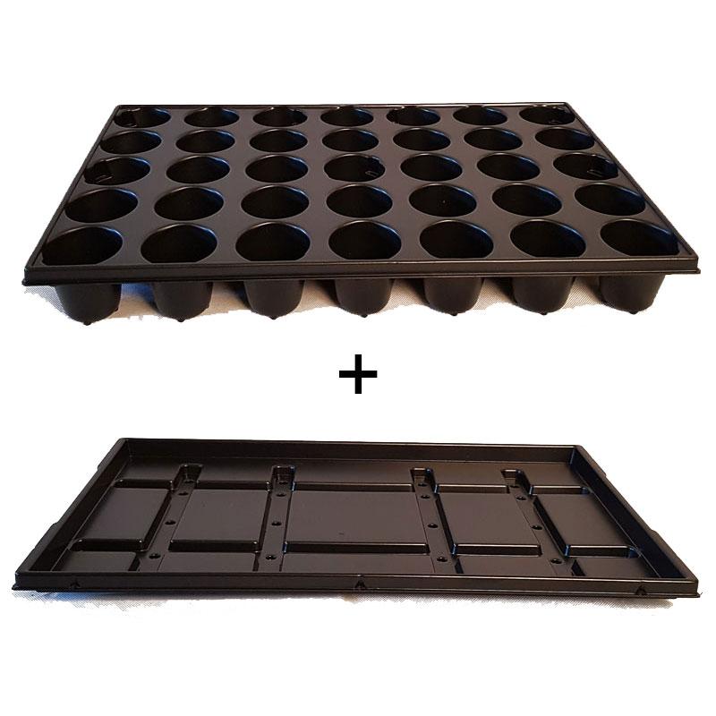 paketerbjudande: Pluggbrätte 35 celler + bevattningsbricka