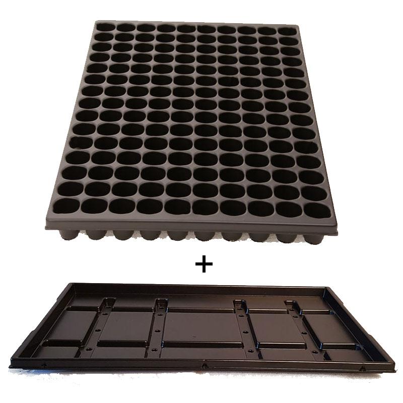 Paketerbjudande:  Pluggbrätte 150 runda celler med underbevattningsbricka