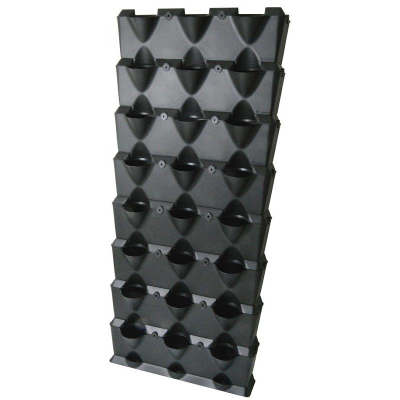 Växtvägg Minigarden modulärt väggodlingssystem, svart