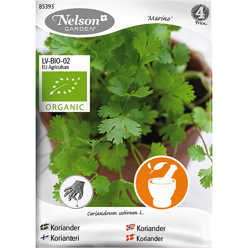 Koriander Marino, Organic, Ekologiskt frö till koriander, Marino