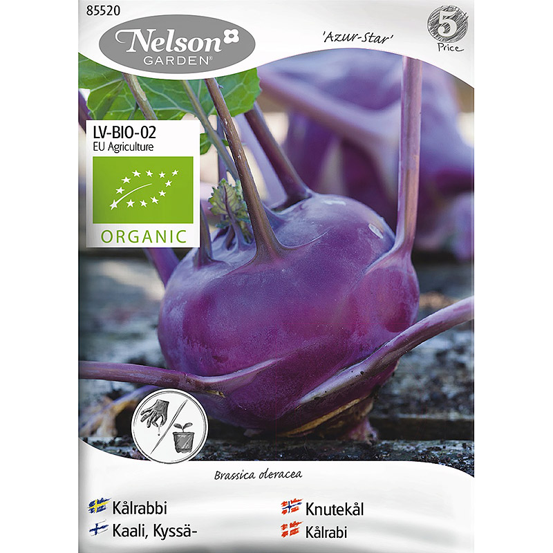 Kålrabbi Azur-Star, Organic, Ekologiskt frö till kålrabbi, Azur-Star