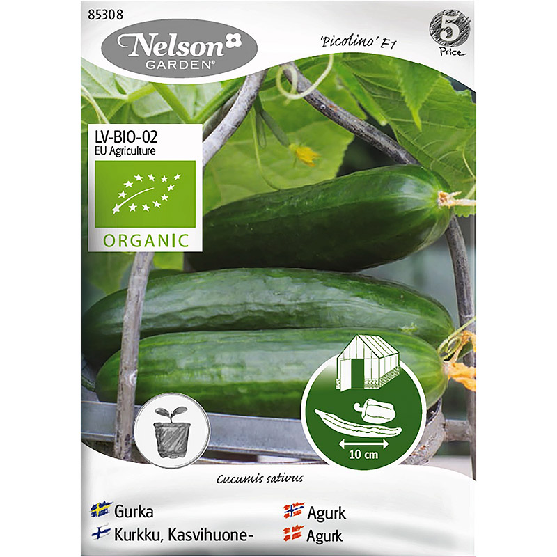 Krukgurka Picolino F1, Organic-Ekologiskt frö till krukgurka, Picolino F1