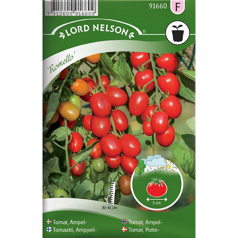 Frö till Ampeltomat, Solanum lycopersicum 'Romello' F1