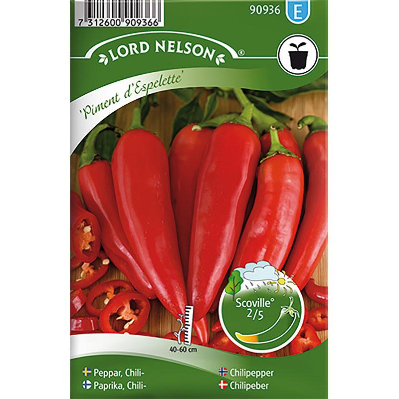 Chili Pimient d'Espelette, Frö till Chilifrukt Pimient d'espelette