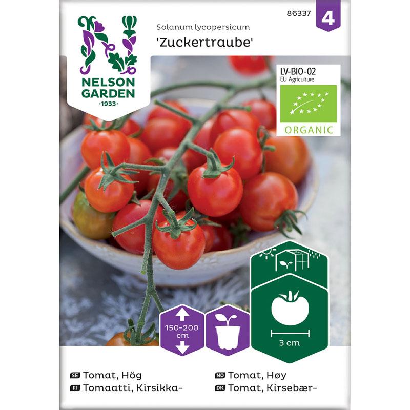 Ekologiskt frö till tomat, Solanum lycopersicum 'Zuckertraube'
