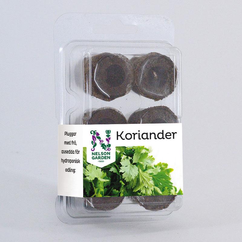 Hydroponisk, Plugg med frö, Koriander