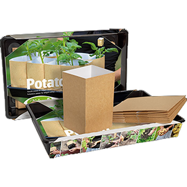 Paper Pot Potato förodlingsset-Planteringsset Paper Pot med odlingstråg