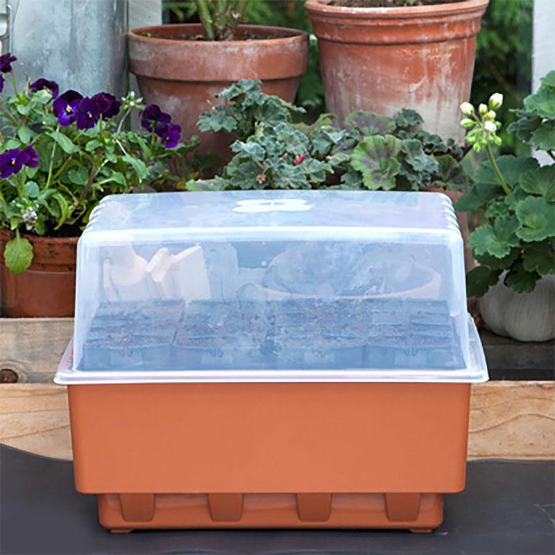 Rootmaster - miniväxthus för frösådd i pluggar med underbevattning