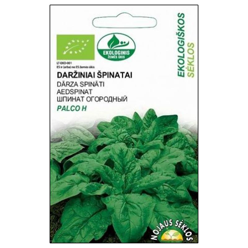 Spenat Organic Palco, ekologiskt frö, Ekologiskt odlade fröer till Spinacia oleracea L.