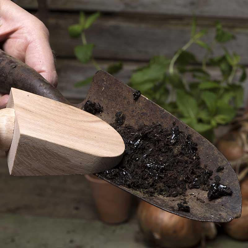 Rengöring av trädgårdsverktyg