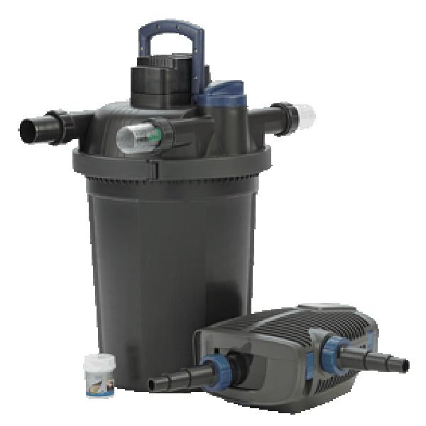 FiltoClear Set 16000 - Tryckfilterset, Tryckfilter med UVC och patenterad rengöringsfunktion