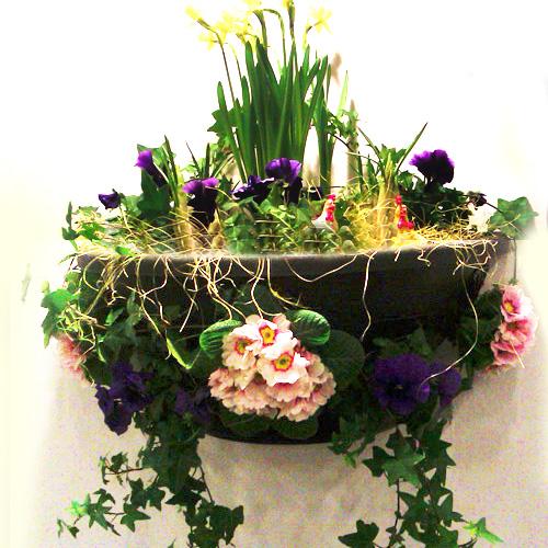 Plantopia väggampel - svart, Plantopia väggampel för plantering av Hanging basket