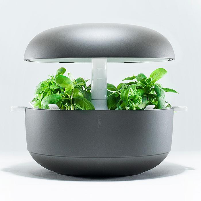 Plantui Smart Garden - inomhusodling, grå, Inomhusodling med hydrokultur-vattenodling Smart Garden