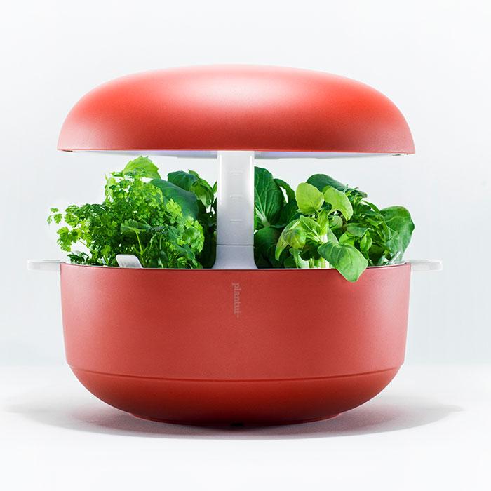 Plantui Smart Garden - inomhusodling, röd, Inomhusodling med hydrokultur-vattenodling Smart Garden
