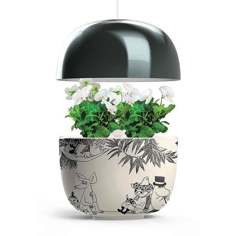 Plantui Moomin Garden 3, black, Inomhusodling med hydrokultur-vattenodling Mumin Garden