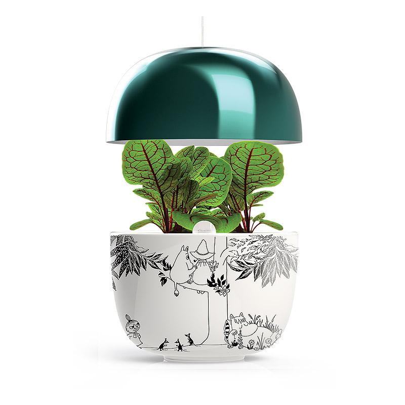 Plantui Moomin Garden 3, turkos, Inomhusodling med hydrokultur-vattenodling Mumin Garden