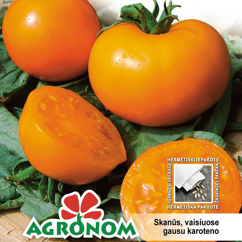 Fröer till tomat tomato, oranze