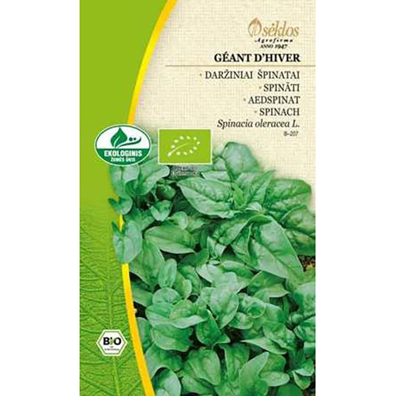 Frö till spenat Organic - Geant d'Hiver