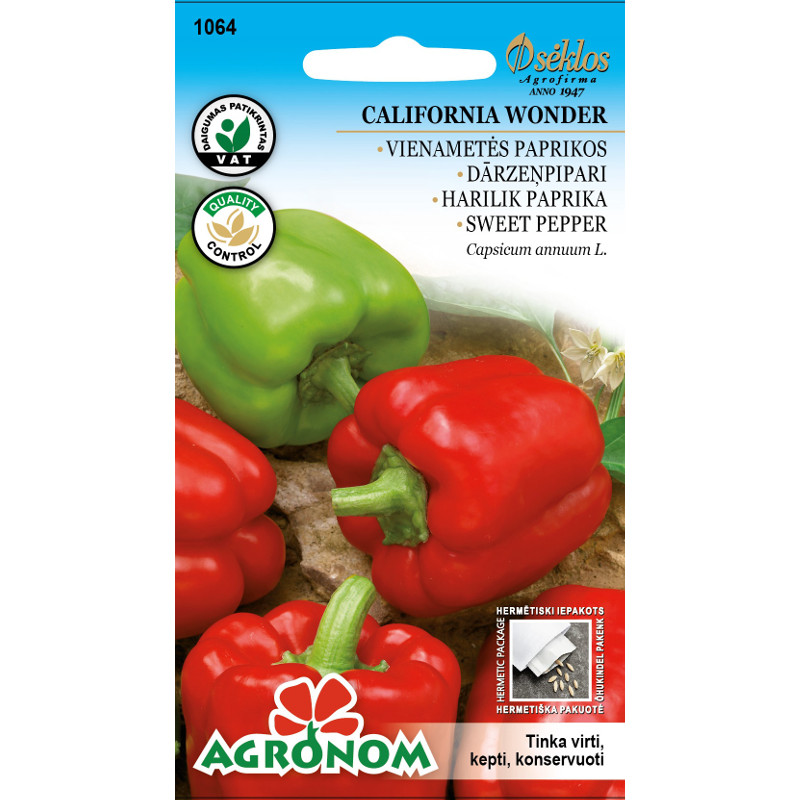 Paprika Californa Wonder-Frö till Paprika - Californa Wonder