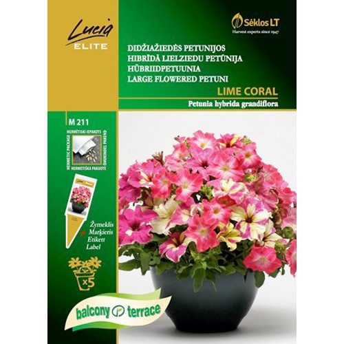 Petunia Grand Mix Lime Coral-Frö till Petunia Grand - Mix Lime Coral