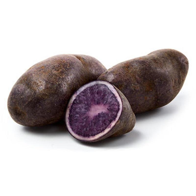 Sättpotatis till violett potatis Bergerac